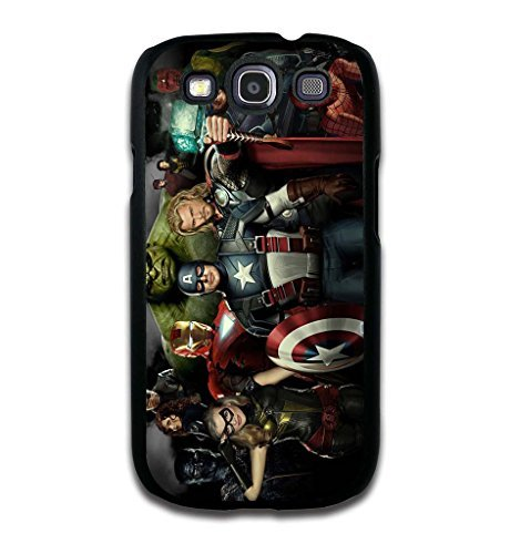 Tomhousomick Custom Design The Avengers Spider-Man Captain America The Hulk Thor Ant-Man Black Widow Iron Man Case Cover for Samsung Galaxy S3 I9300 2015 Hot Fashion Style