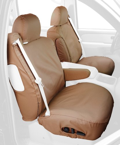Covercraft Custom-Fit Front Bucket SeatSaver Seat Covers - Polycotton Fabric, Tan ()