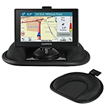 Navitech Dashboard Friction Mount and Suction Mount with GPS Clip For TheGarmin Drive 60 LMT-D