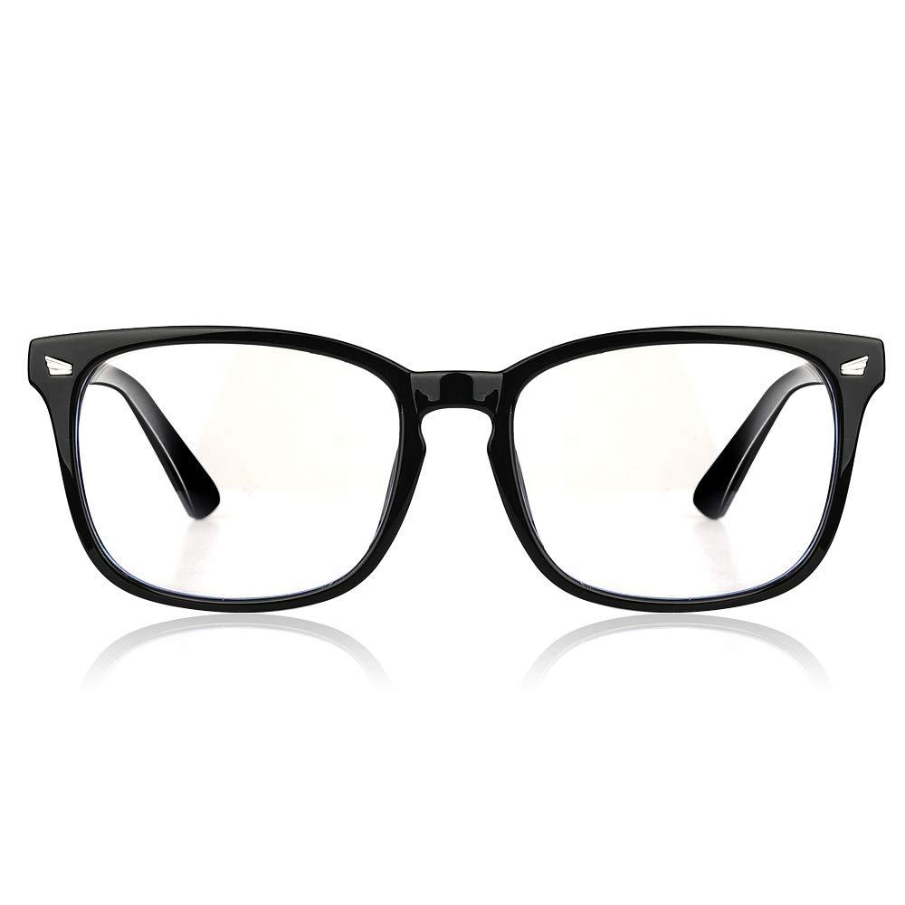 LUXUR Blue Light Blocking Computer Glasses Square/Round Reading Glasses