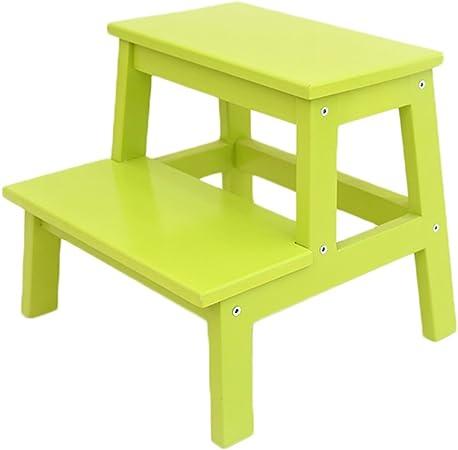 Escalera Taburete Escalera Plegable, Anti Slip sillas para Niños Madera Maciza Multifunción Banco de Madera Taburete para Adultos Taburete hogar mazar Taburete Banco (Color : Verde): Amazon.es: Hogar