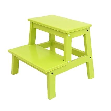 Scaletta sgabello Sedie per bambini antiscivolo, sgabello in legno ...