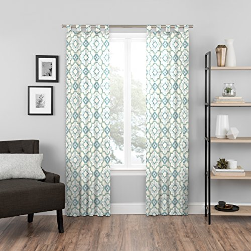 Rooms To Go Living Room - PAIRS TO GO Cecily 2-Pack Window Curtains, 60x95, Peacock