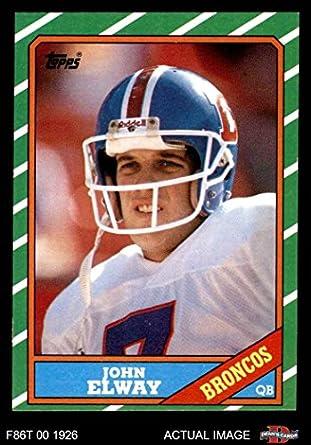 22647cc2 Amazon.com: 1986 Topps # 112 John Elway Denver Broncos (Football ...