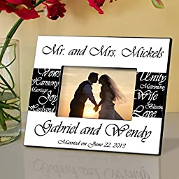 Pesonalized Mr. and Mrs. Wedding Frame - Pesonalized Wedding Frame - Wedding Gifts