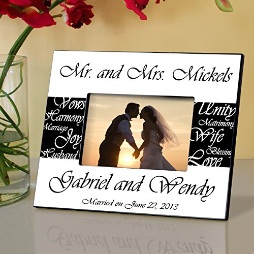 Pesonalized Mr. and Mrs. Wedding Frame - Pesonalized Wedding Frame - Wedding Gifts