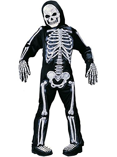 Spooky Skeleton Child Halloween Costume (Large (12-14))