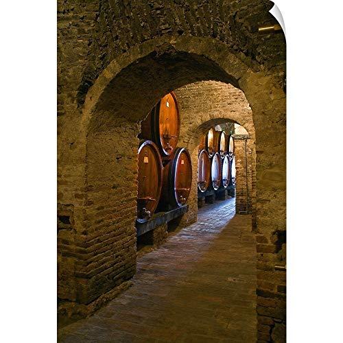 (CANVAS ON DEMAND Italy, Tuscany, Siena District, Val di Chiana, Montepulciano, Wine Cellar Wall Peel Art Print.)