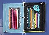WODISON 24 Packs 3 Ring Binder Pen Pencil Case