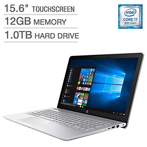 HP Pavilion Business Flagship Laptop PC 15.6 Inch FHD IPS WLED-Backlit Touch Screen Intel i7-8550U Processor 12GB DDR4 RAM 1TB HDD Backlit-Keyboard Bluetooth Webcam B&O Audio Windows - Ram Laptop 12gb I7 Hp 1tb