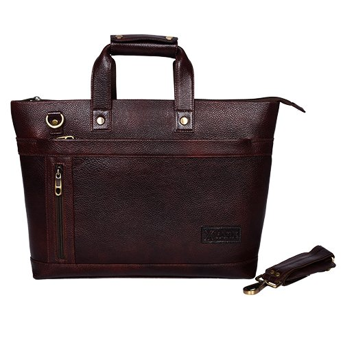 ca01636fb524 Yark Genuine Leather Laptop Bag/Briefcase Fits Upto 15.6 inches ...
