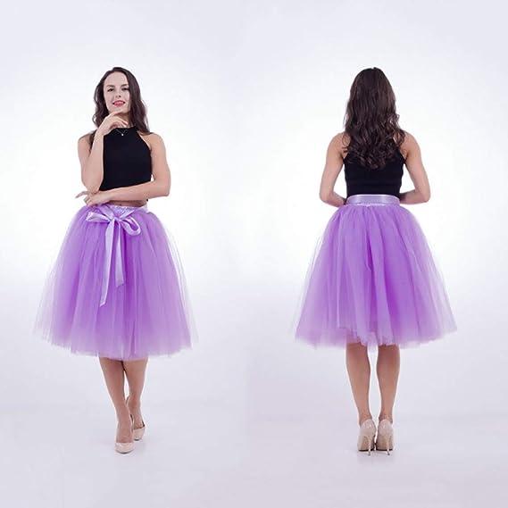 NVDKHXG Moda Maxi Long Tutu Faldas de Tul para Mujer Falda Plisada ...