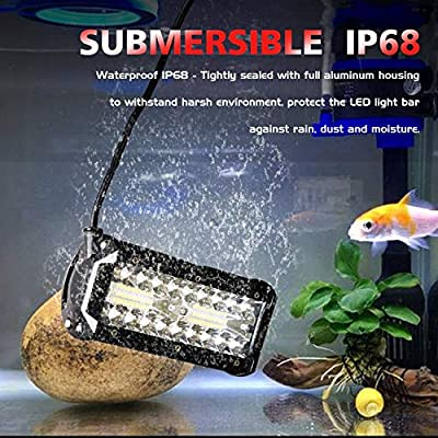 AUZKIN 7 Inches LED Light Bar Submersible driving lights 240W 24000lm LED Pods Spot Flood Combo Beam Off Road lights fog lights for Truck Trailer Pickup Boat Car SUV ATV RV Jeep,2Pcs: Automotive