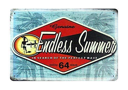 Endless Summer Tin Sign - WholesaleSarong Endless Summer Beach tin Metal Sign Home Decor Bedroom Supermarket Metal Sign