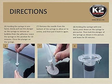 K2 Glass Doctor Windschutzscheibe Reparatur Set Steinschlagreparatur Scheibenreparatur Auch Für Lampengläser Geeigent Auf Harz Basis Auto