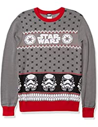 Men's Ugly Christmas Sweater, Stormtrooper/Grey, X-Large