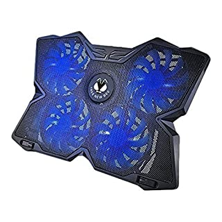 Tree New Bee High Performance Gaming Laptop Cooling Pad for 15.6 - 17-Inch Laptops with (4 Fans) Four 120mm Fans at 1200 RPM, Black (TNB-K0025)