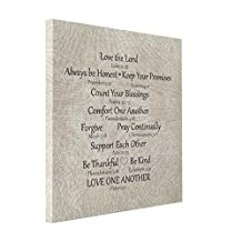 VetiVer Canvas Printers For Sale Faith Bible Verse And Family Rules Canvas Print