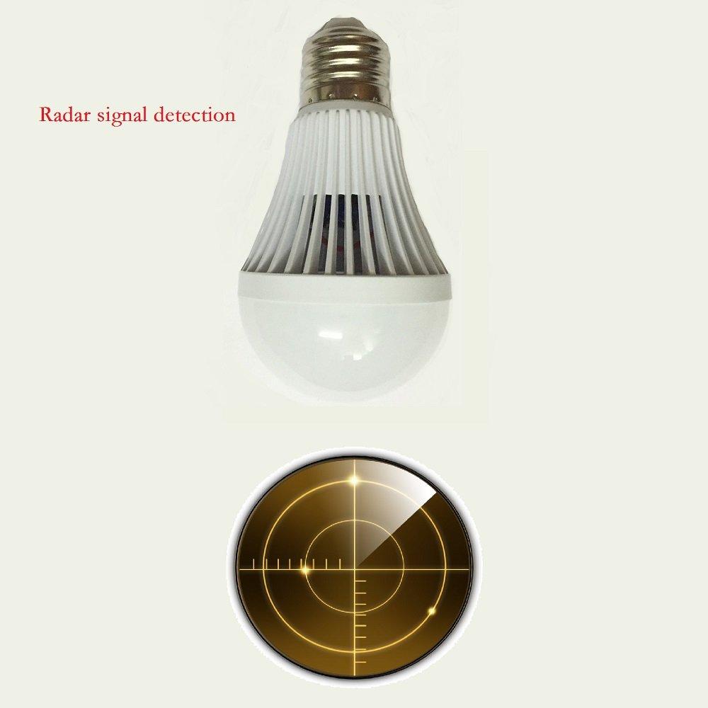 7W E27 Microondas Detección Señales de Radar Bombilla Lámpara Luz Sensor de Movimiento: Amazon.es: Iluminación