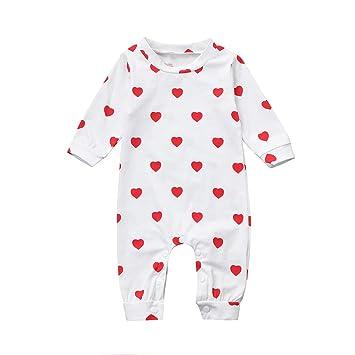 748f13986a5c Amazon.com  Newborn Toddler Baby Boys Girls Long Sleeves Cartoon ...