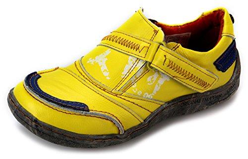 TMA Damen Freizeit Schuhe Comfort Halbschuhe 1364 Gelb