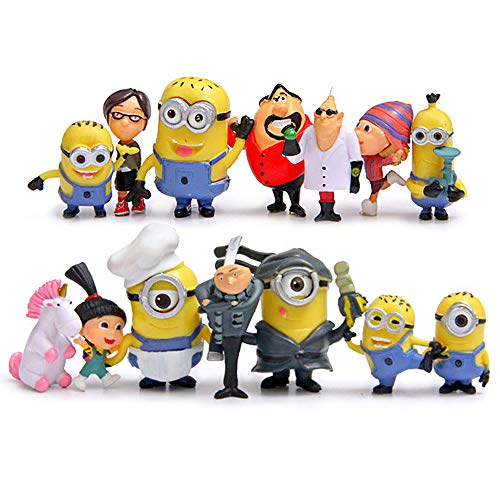 Cute Despicable Me Minions Character Action Figures Toy Set of 14pcs/Set PVC Toys Collectable Toys, Great Present, Hot Gift, Home -