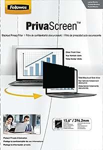 """Fellowes PrivaScreen - Filtro de privacidad para pantalla panorámica de portátil, 15.6"""", 16:9"""