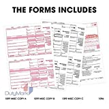 1099 Misc 4-Part 2018 Laser Tax Form & Self-Seal