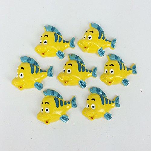 ZAMTAC Kawaii Flatback DIY Cartoon Yellow Fish Resin Cabochons Flat Back Scrapbooking Embellishment Accessories for Hair Bow :3035MM