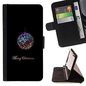 Momo Phone Case / Flip Funda de Cuero Case Cover - Navidad Negro Invierno minimalista - LG G4 Stylus H540