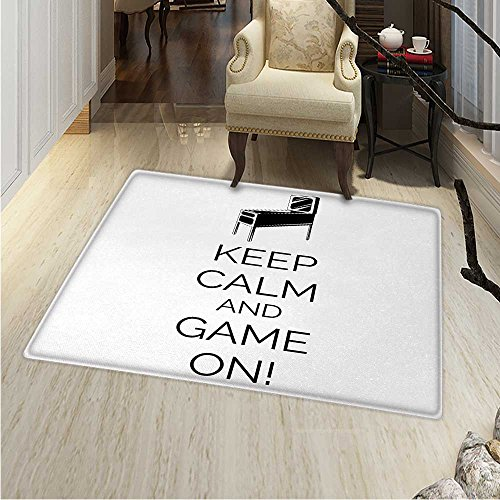 Keep Calm Rugs for Bedroom Pinball Machine Arcade Room for sale  Delivered anywhere in Canada