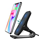 Fast Wireless Charger Stand STOGA 10W Fast Wireless Charging Pad Certified Qi Wireless Charger for iPhone 8/8 Plus iPhone X Samsung Galaxy S9/S9 Plus/Note 8/S8/S8 Plus/S7/S7 Edge(NO Adapter)-Black