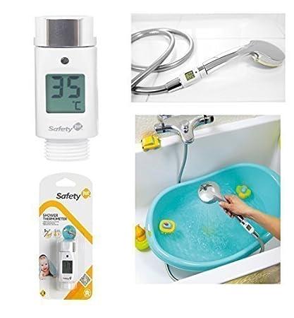 Bebé Digital Cabezal de ducha temperatura Medidor Termómetro Resistente Al Agua LCD Seguridad 1s