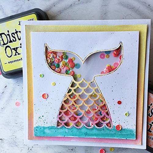 (Cutting Dies - Mermaid Fish Tail Metal Cutting Die Scrapbooking Embossing Stencil Card Album Book Decoration Knife - Paper Scrapbooking Love Holtz Stamp Animals Shoe Sets Alphabet By)