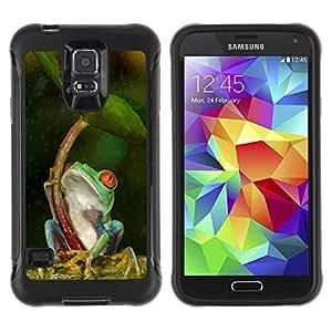 Suave TPU GEL Carcasa Funda Silicona Blando Estuche Caso de protección (para) Samsung Galaxy S5 V / CECELL Phone case / / Umbrella Green Forest Tropical /