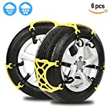 Anti Snow Chains of Car,SUV Chain Tire Emergency Thickening Anti-Skid Chain -Set of 6