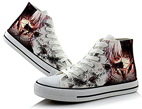 Amazon.com: Telacos Tokyo Ghoul Kaneki Ken Cosplay Shoes Canvas Shoes Sneakers Colourful 1: Sports & Outdoors