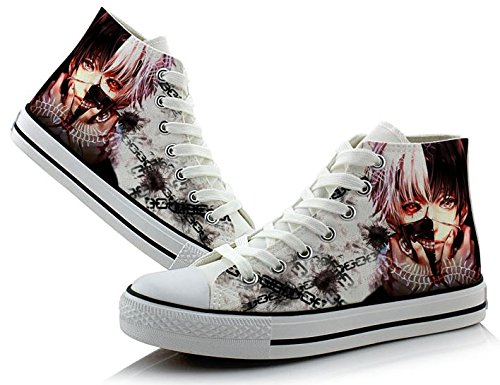 Ken canvas Colourful Shoes 1 Shoes Kaneki Tokyo sneakers Ghoul Cosplay x6OOF