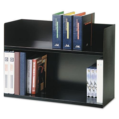 SteelMaster 26423BRBK Two-Tier Book Rack, Steel, 29 1/8 x 10 3/8 x 20, Black by STEELMASTER