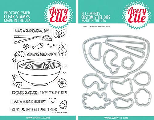 (Avery Elle - Phonomenal - Pho Clear Stamps and Dies Set - 2 Item Bundle)