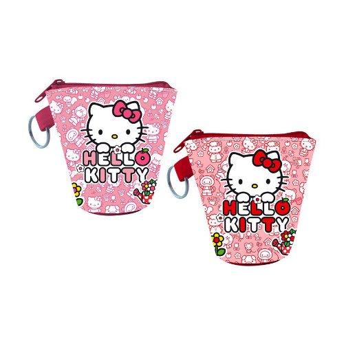 1 PORTE MONNAIE HELLO KITTY 9 X 9 CM ROSE MODE sanrio