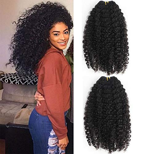 3B 3C Kinky Curly Human Hair Clip In Extensions For Black Women Brazilian Virgin Hair Kinky Curly Clip Ins Clip On Extension Natural Color 20inch 7pcs/lot 120gram/set