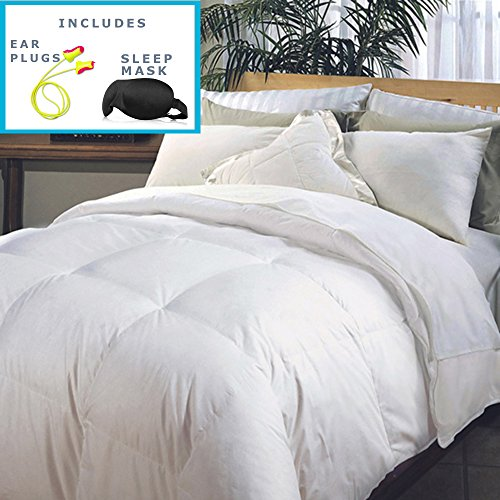 Hotel Grand Naples 700 Thread Count Medium Warmth Down Alternative Comforter (King) - High Quality Sleep Mask & Comfortable Pair of Corded Earplugs Included (Grand Down Alternative Comforter compare prices)