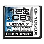 Delkin 128 GB CF 1050X UDMA 7 Cinema Memory Card (DDCF1050-128 GB) 4 4K UltraHD Approved Sustains High Frame Rates Excels in Digital Backs