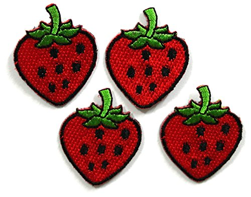 Pcs Strawberry Applique Embroidered Backpack product image
