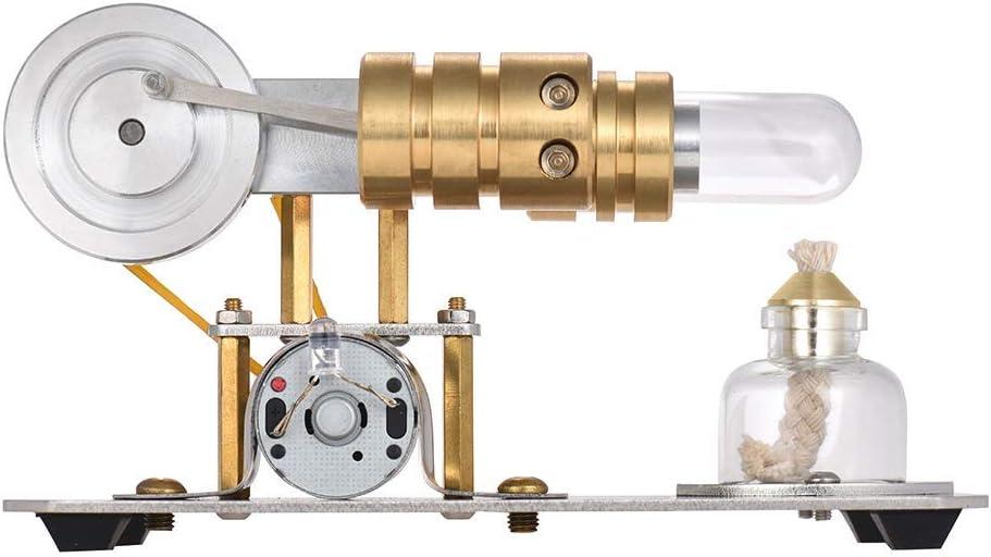 Demonstrationswerkzeug f/ür Physikexperimente Mini Horizontal Einzylinder Stirlingmotor Modell XFY Hei/ßluft Stirlingmotor