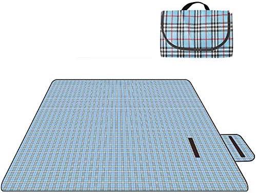 RUGS Coperte da Picnic Coperta da Picnic Impermeabile per Esterni Impermeabile Oxford Portatile Attrezzatura da Campeggio 150 * 200Cm,Blu