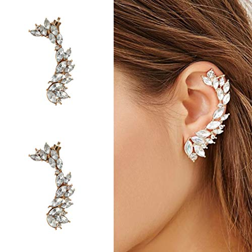 ystals Cuff Earrings Hypoallergenic Cuff Earrings for Women Girls Thanksgiving Valentine's Day Birthday Christmas (Gold) ()