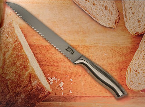 Venoly Professional 8-Inch Serrated Bread Knife – Ergonomic Handle and Ultra Sharp Cutter Blade, Perfect for All Types of Bread, including Homemade Bread Loaves, Hard Crusts, and More 5 The perfect kitchen and table top companion.
