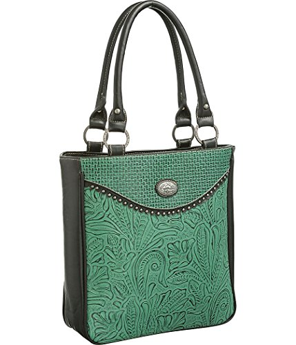 trinity-ranch-conceal-carry-black-turquoise-paisley-embossed-tote-handbags